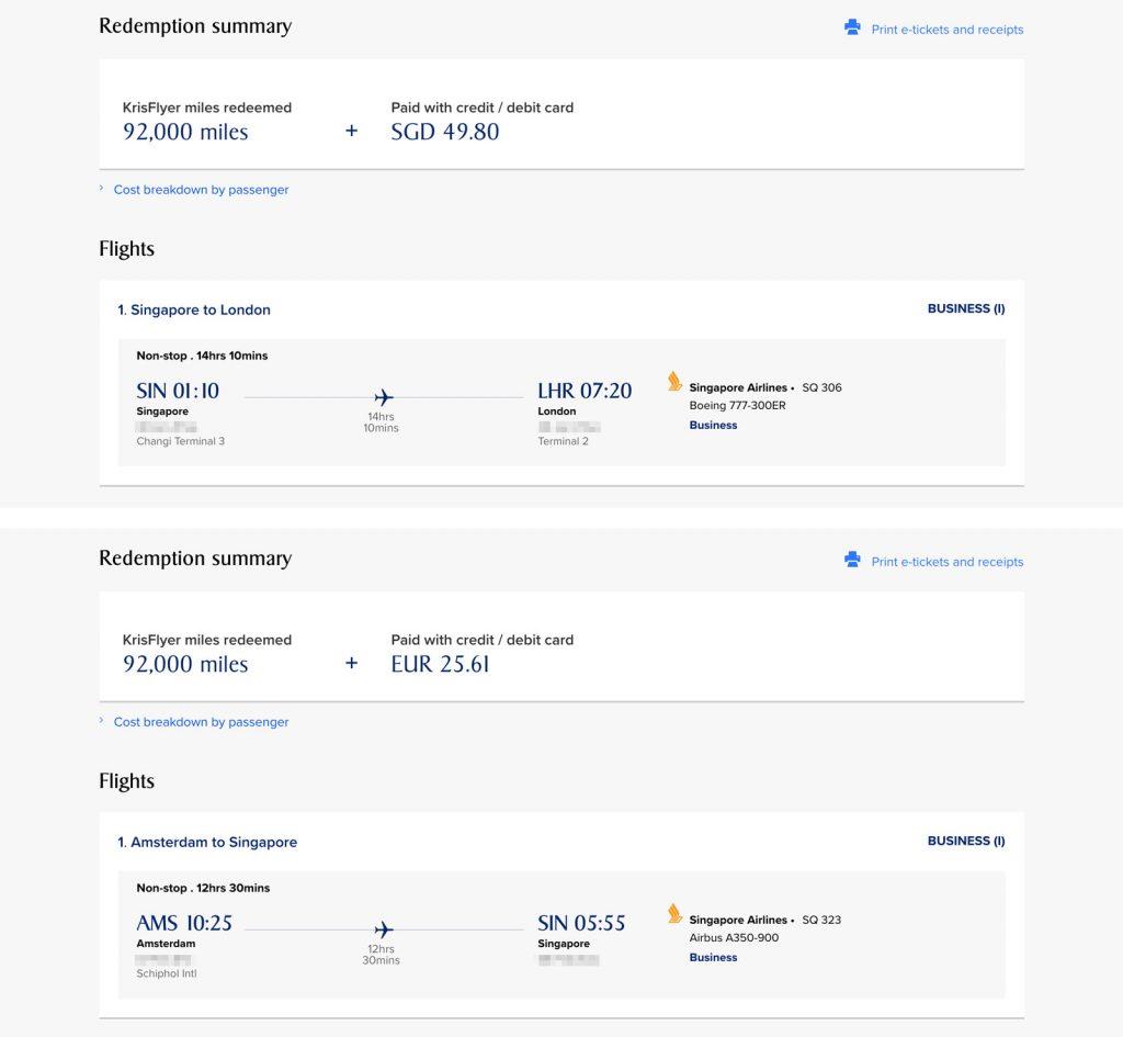 Flight confirmation