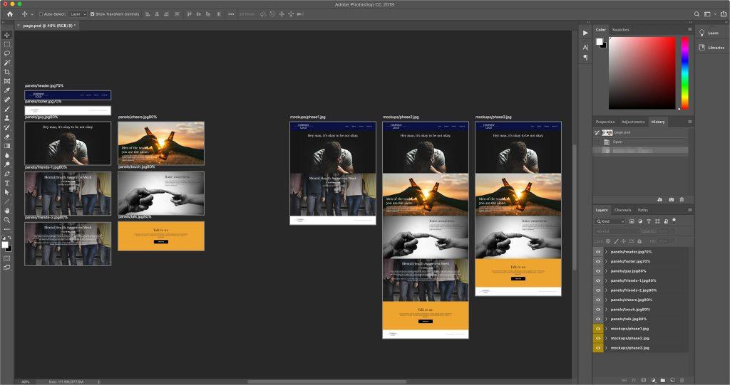 Workspace in Photoshop
